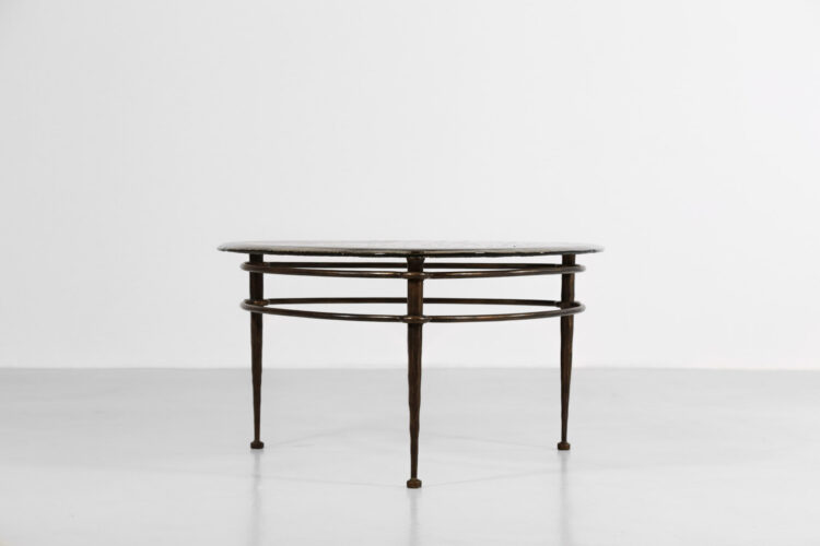 Table basse Lothar Klute verre et bronze design Allemand