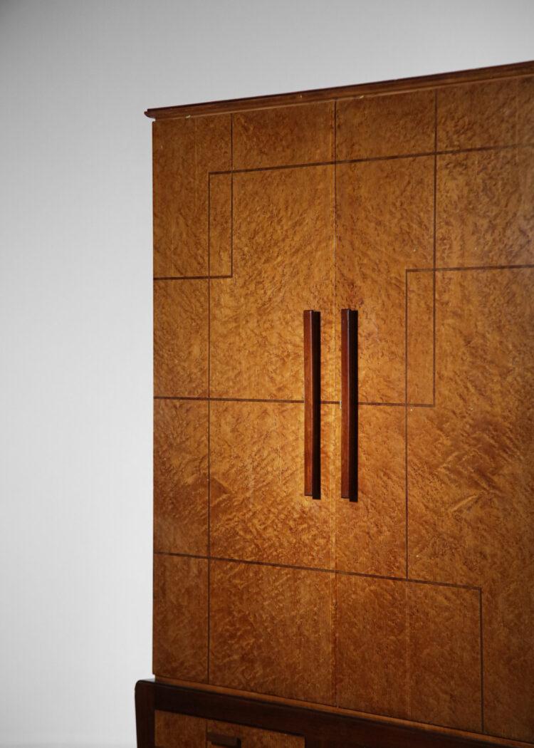 armoire italienne en bois de loupe style gio ponti - F265 - F266