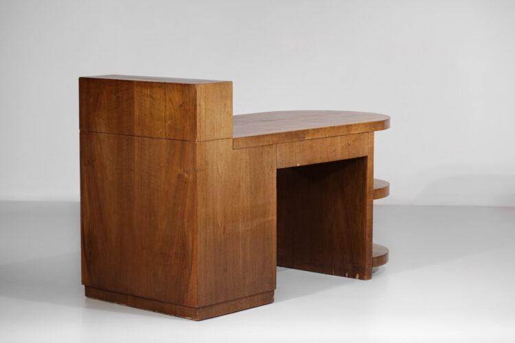 bureau moderniste en chêne des années 40 art déco