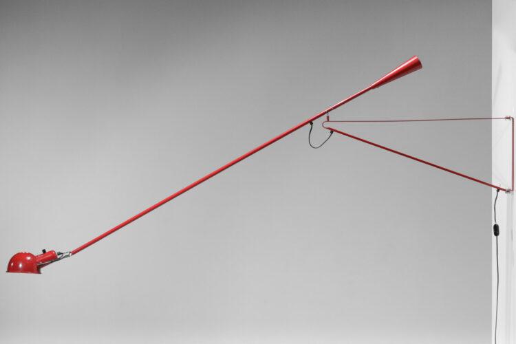 grande applique potence arteluce rouge Paolo Rizzato F375