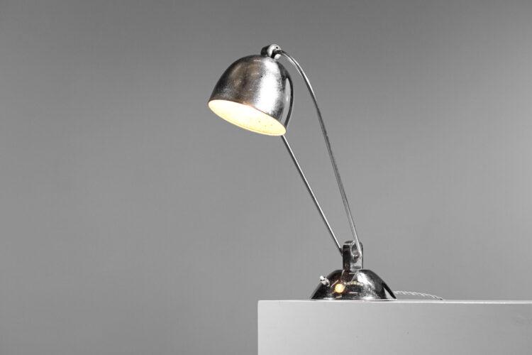 lampe de table moderniste art deco chromé style desny