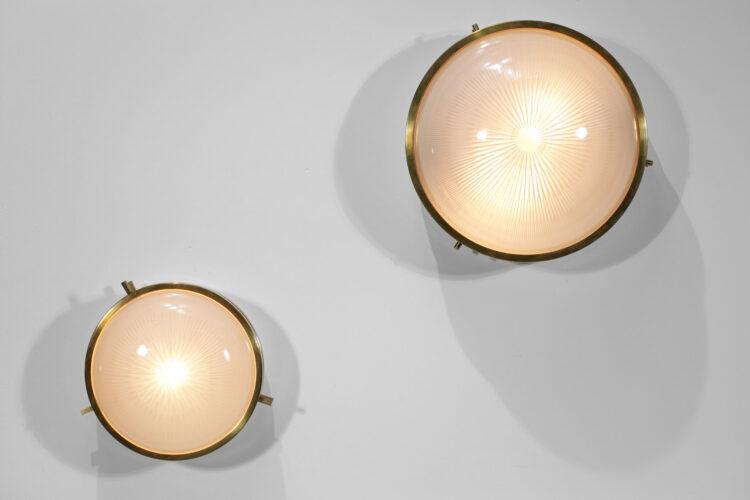 paire de lampes plafonniers appliques sergio mazza F245 F246