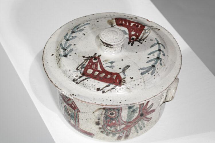 pot en céramique Gustave Reynaud Vallauris atelier le Mûrier - F327
