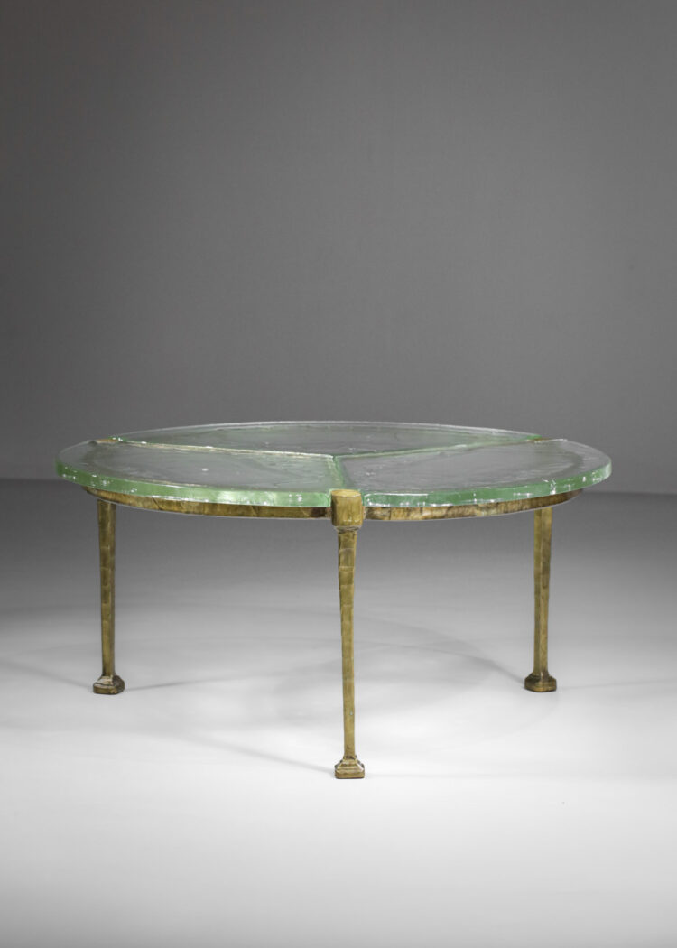 table ronde en bronze doré Lothar Klute germany