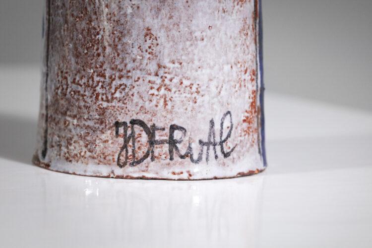 vierge à l_enfant en ceramique jean derval années 60