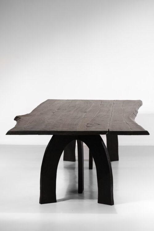 grande table à manger vincent vincent 80 20 bois brulé