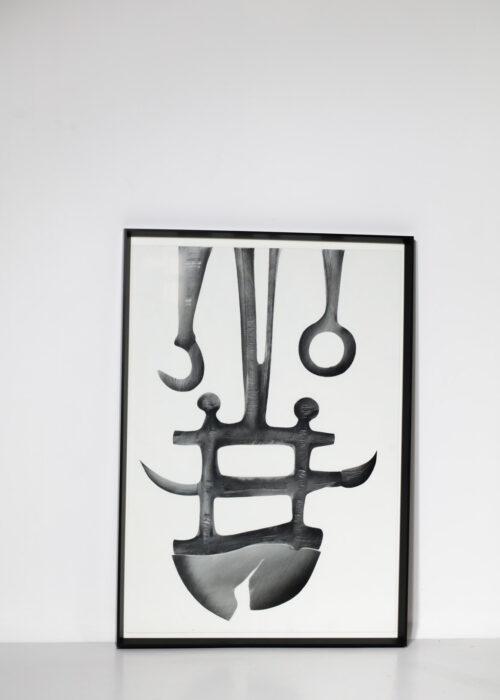 huile sur carton guy dessauges peinture années 70 artiste suisse