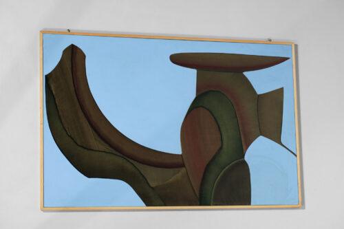 huile sur panneau guy dessauges peinture années 70 artiste suisse