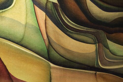huile sur panneau peinture Guy Dessauge années 70 artiste suisse