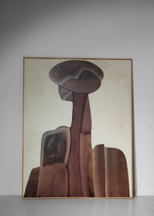 huile sur panneau guy dessauges peinture années 70 artiste suisse - 159/17