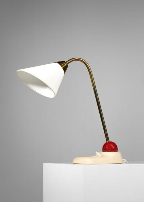 lampe de table française en céramique années 60 boule